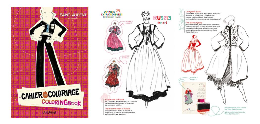Livre A Colorier Yves Saint Laurent La Seinographe