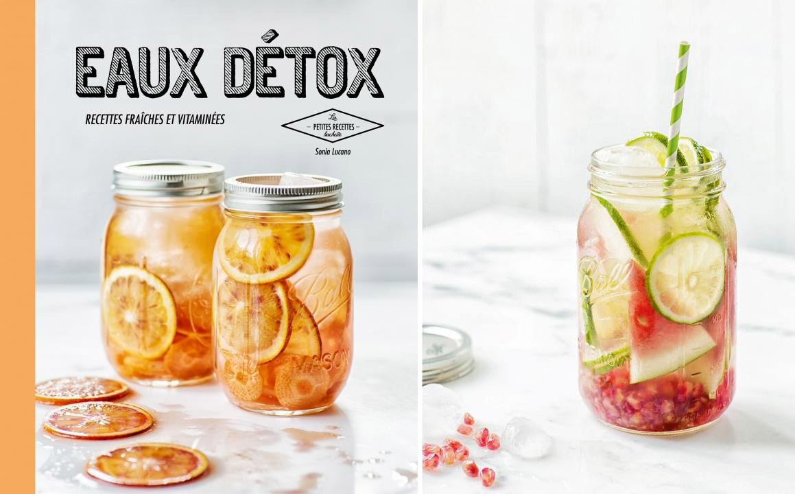 Livre id es recettes eau detox eaux vitamin es fruits la for Livre cuisine detox