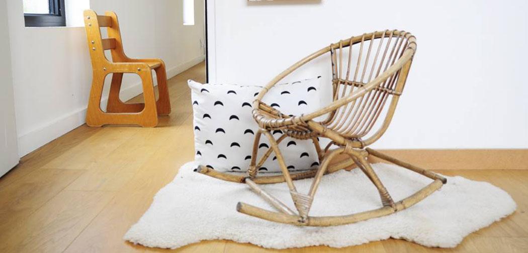 les happy vintage brocante objets d co design chaise rotin enfants kids la seinographe. Black Bedroom Furniture Sets. Home Design Ideas