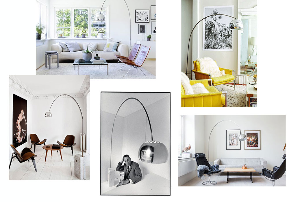 inspirations deco design italien lampe pied marbre arco freres castiglioni new la seinographe. Black Bedroom Furniture Sets. Home Design Ideas