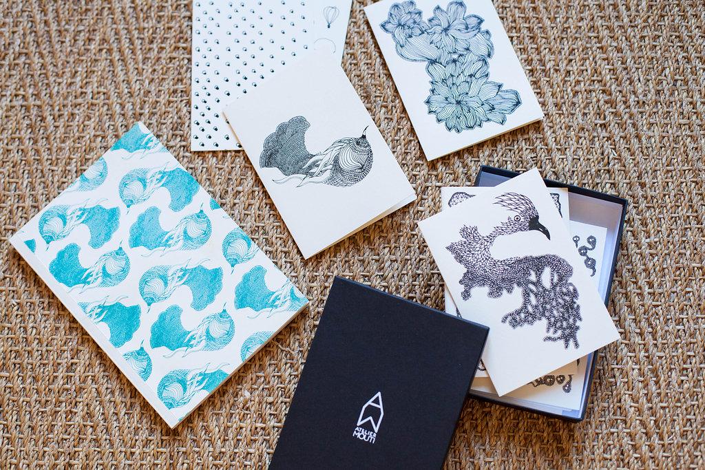 jolie papeterie cartes de voeux paris atelier mouti cahier carnet papier peint original la. Black Bedroom Furniture Sets. Home Design Ideas