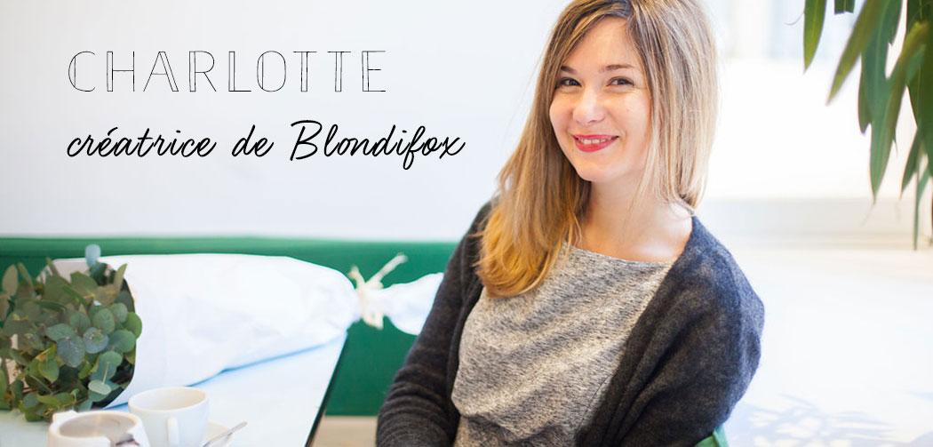 Charlotte cr atrice de la jolie marque blondifox la for Intuition gourmande paris