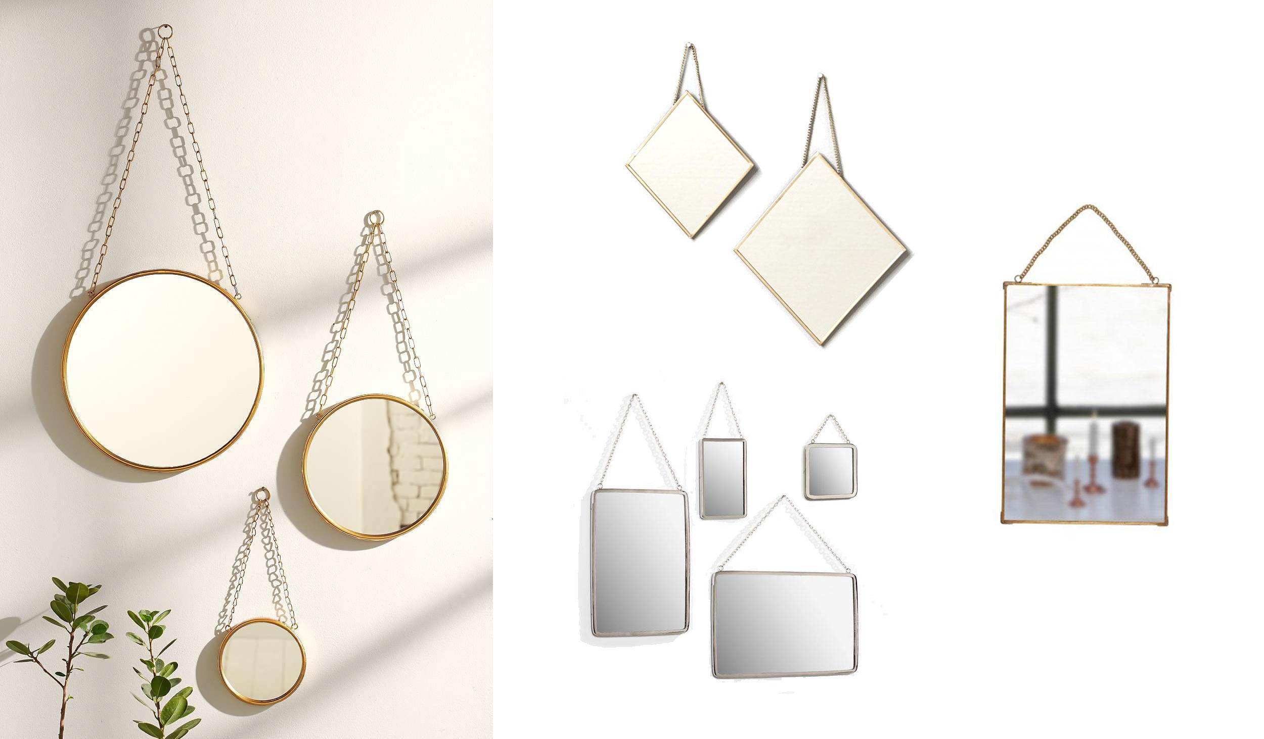 shopping miroirs barbier chaine doree cyrillus la redoute la seinographe. Black Bedroom Furniture Sets. Home Design Ideas