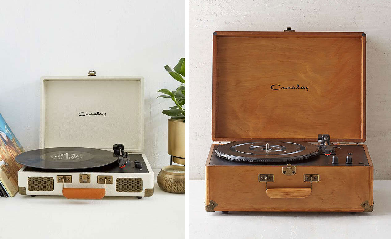 tourne disque retro vintage bois crosley la seinographe. Black Bedroom Furniture Sets. Home Design Ideas